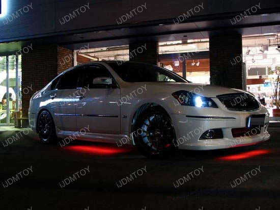 Infiniti M35 LED Strip Light Underbody Undercar Kit